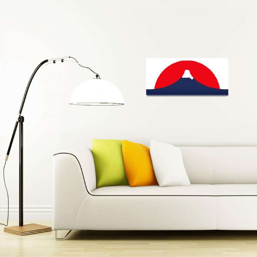 """Mount Fuji""  (2010) by darrenwhittingham"