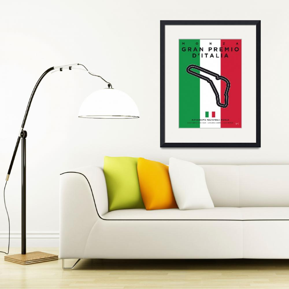 """My F1 MONZA Race Track Minimal Poster""  by Chungkong"