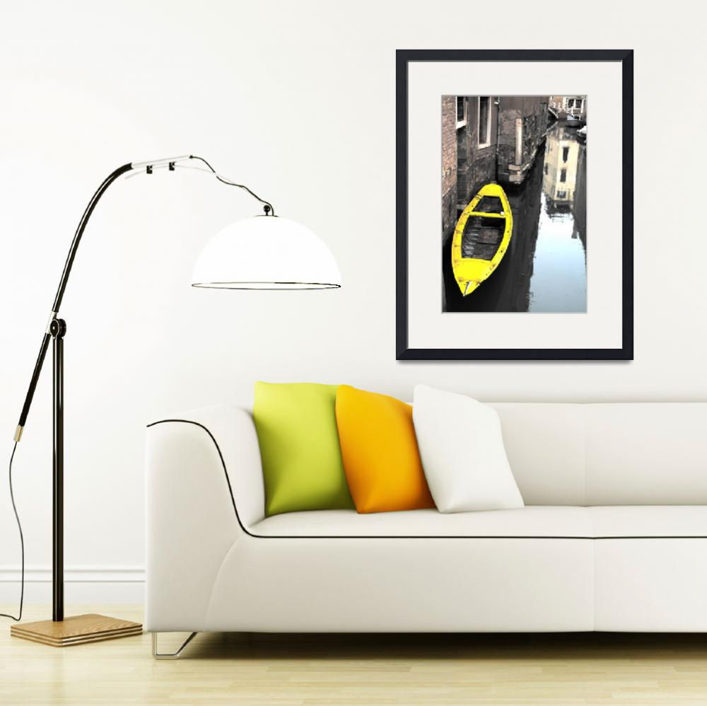 """Yellow Boat, Venice""  (2008) by Shutterstitch"