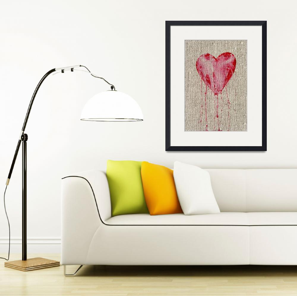 """""""bleeding heart on canvas&quot  (2010) by lamich"""