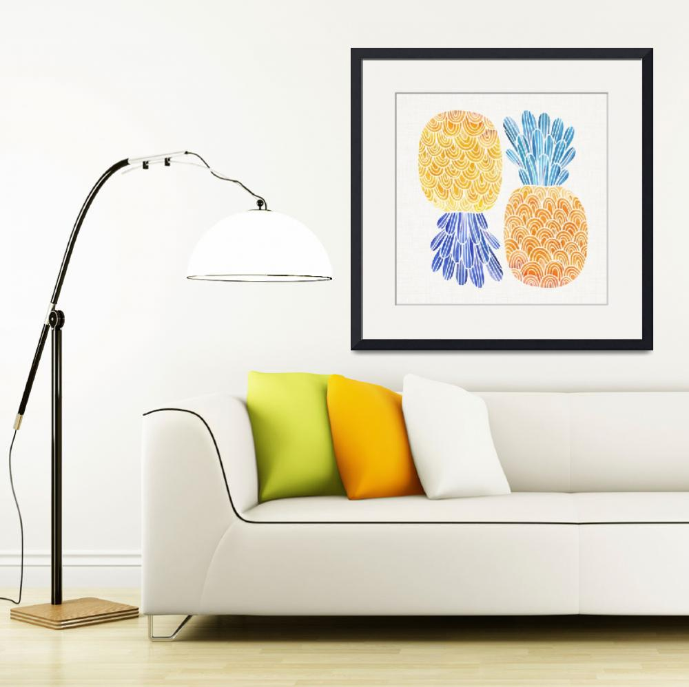 """""""Pineapple Friends&quot  (2018) by moderntropical"""