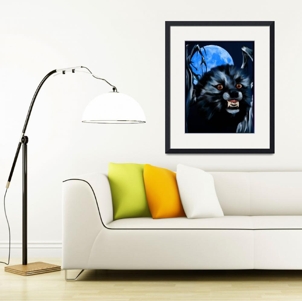 """""""Wolf and Blue Moon&quot  (2010) by Lotacats"""