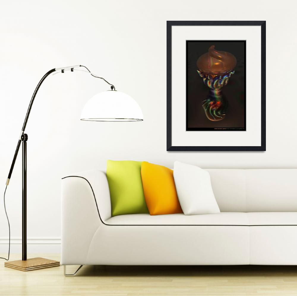 """""""Carnival Glass Bulb Sprouter&quot  (2011) by AnnStretton"""