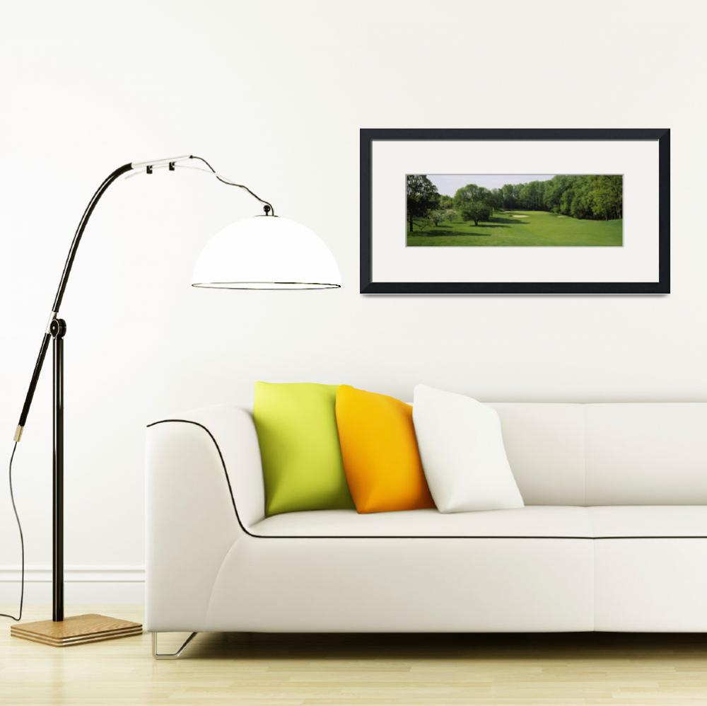 """Trees on a golf course&quot  by Panoramic_Images"
