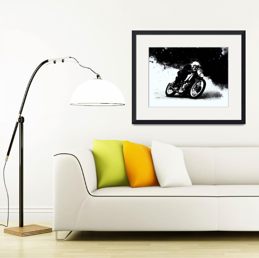 """""""The Vintage Motorcycle Racer""""  (2016) by mark-rogan"""