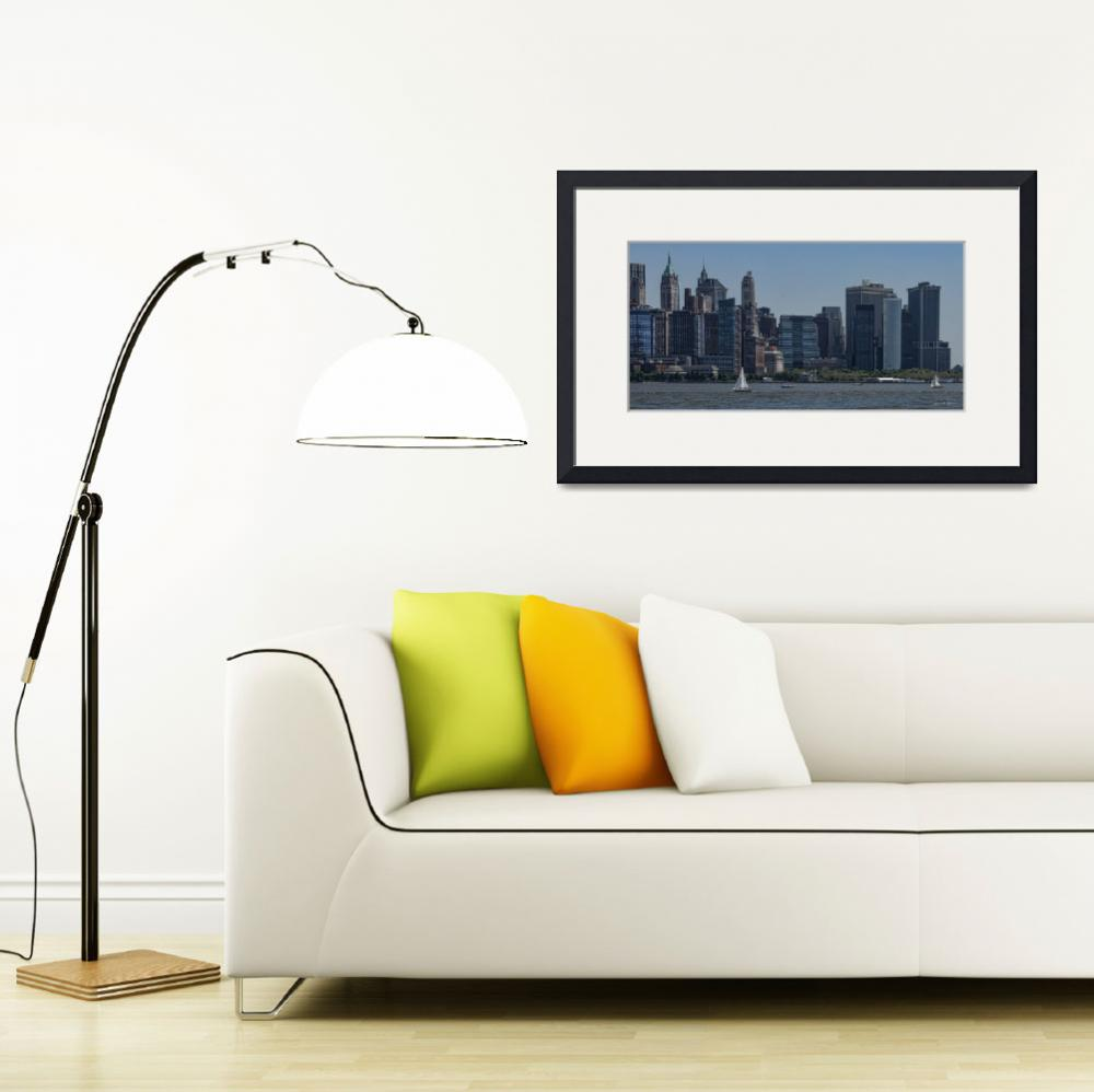 """""""Manhattan on the Hudson""""  (2019) by LouiseReeves"""