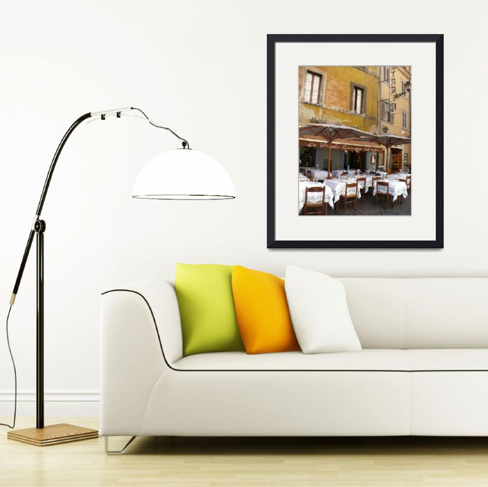 """""""Italian Cafe with Rustic Building&quot  (2008) by Groecar"""