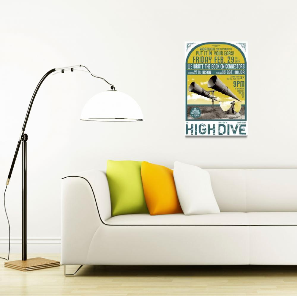 """""""High Dive 022908 Gig Poster""""  (2008) by nifty"""