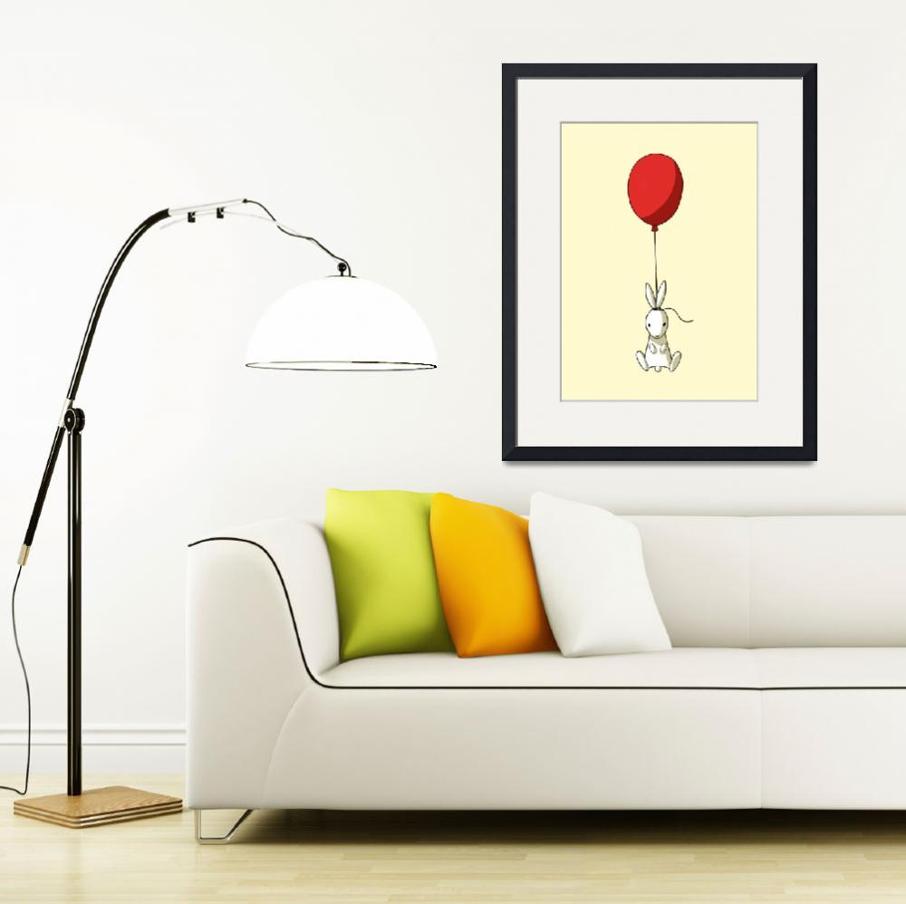 """Balloon Bunny&quot  (2012) by freeminds"