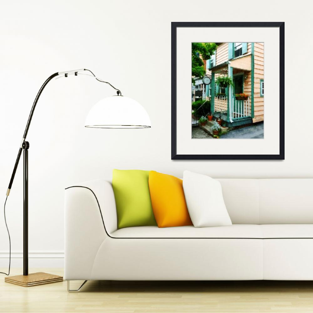 """""""Law Office With Clock&quot  by susansartgallery"""