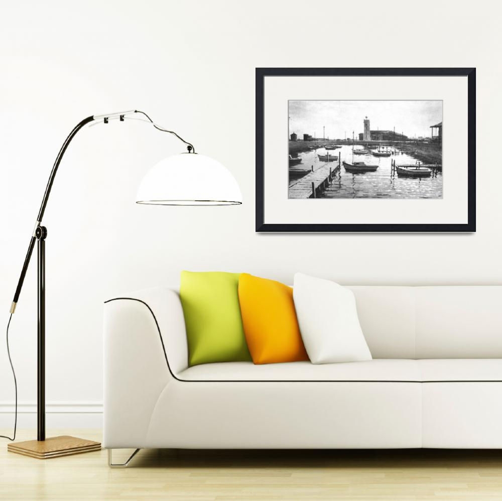"""""""HW043a Boat Harbour Williamstown&quot  by nevilleprosser"""