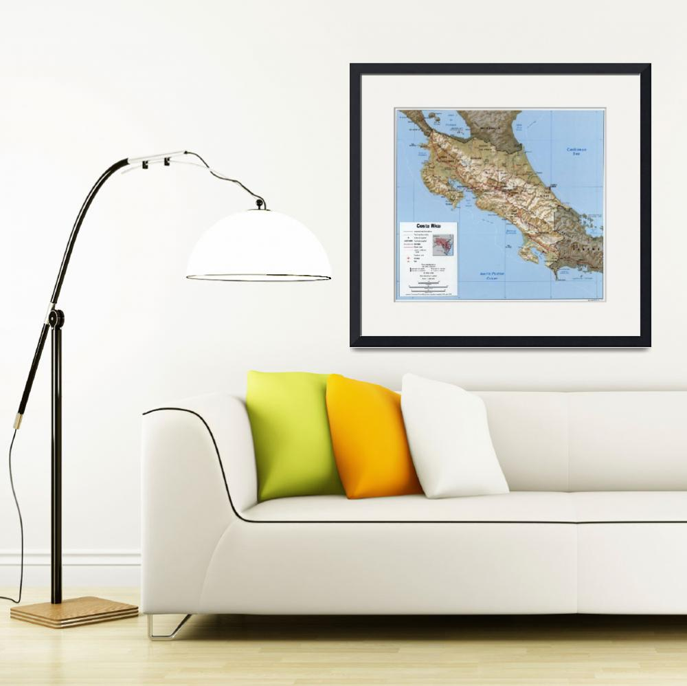 """""""Costa Rica Map (1991)&quot  by Alleycatshirts"""