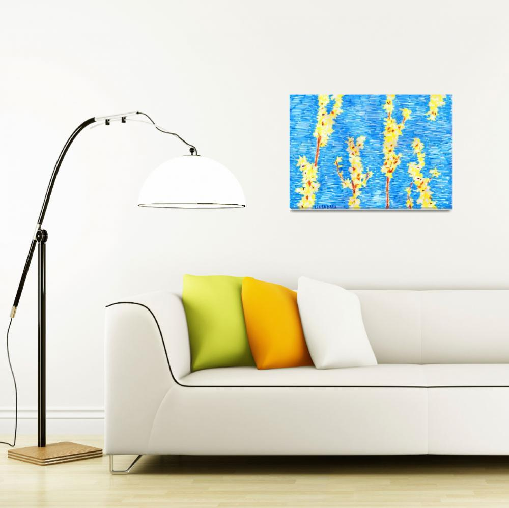 """""""Yellow flowers, blue sky&quot  (2010) by Linandara"""