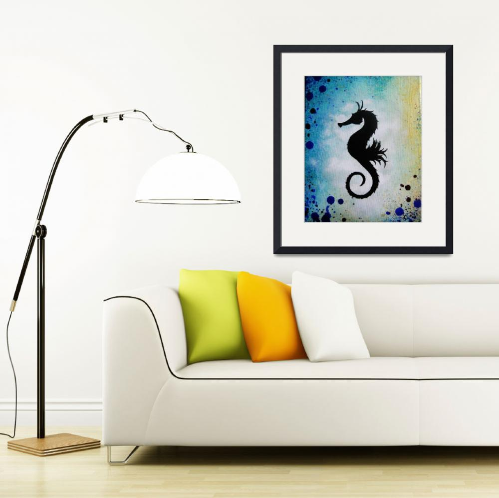"""""""seahorse8x10""""  by foxfyer"""
