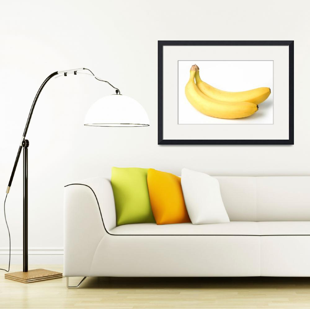 """""""Two bananas on white background&quot  (2010) by Tom_K"""