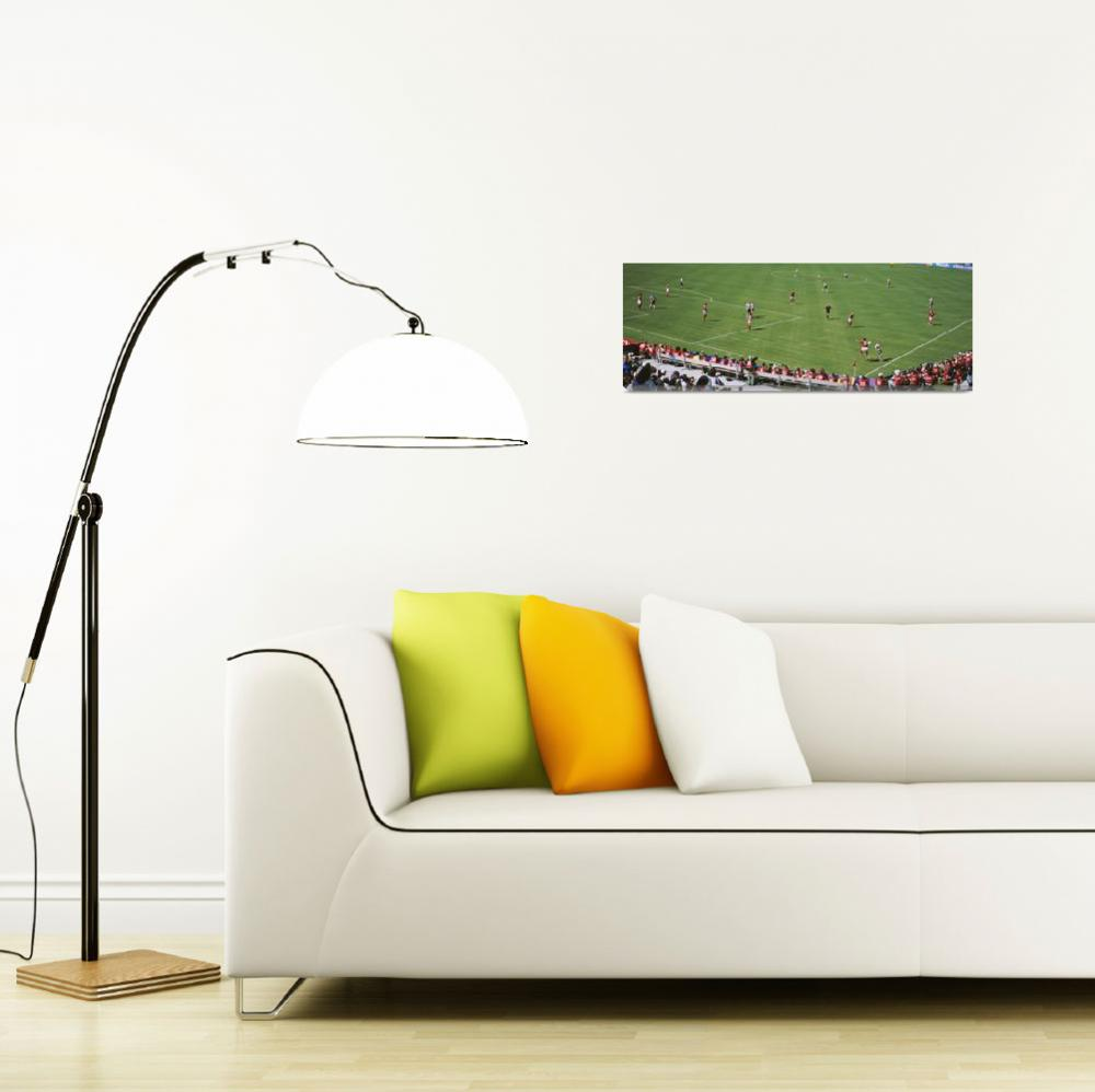 """""""Spectators watching a soccer match vs. Canada""""  by Panoramic_Images"""