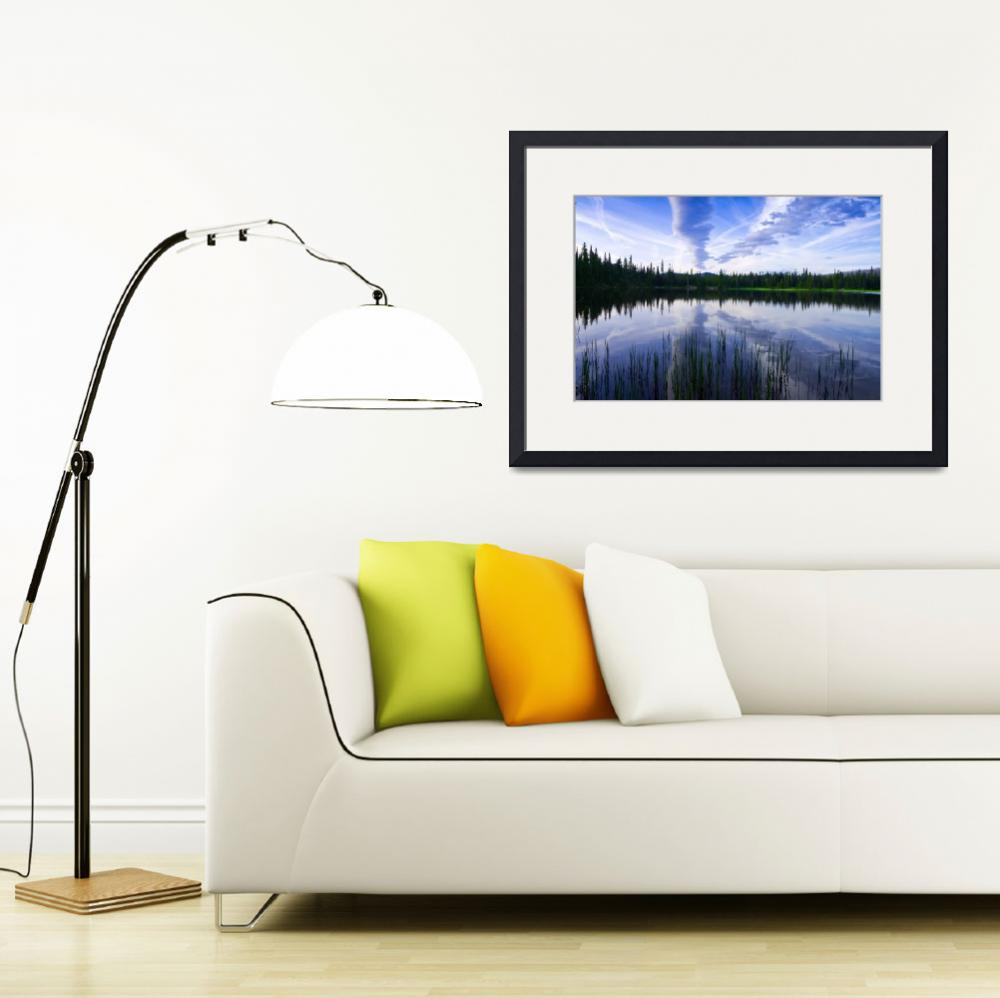 """""""Santiam Lake reflection&quot  (2011) by rjbrown"""