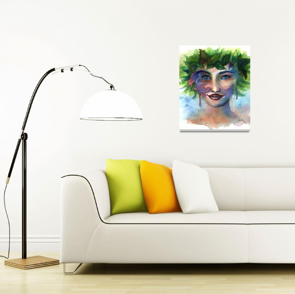 """Fairy portrait, watercolor painting""  (2012) by nopiepan"