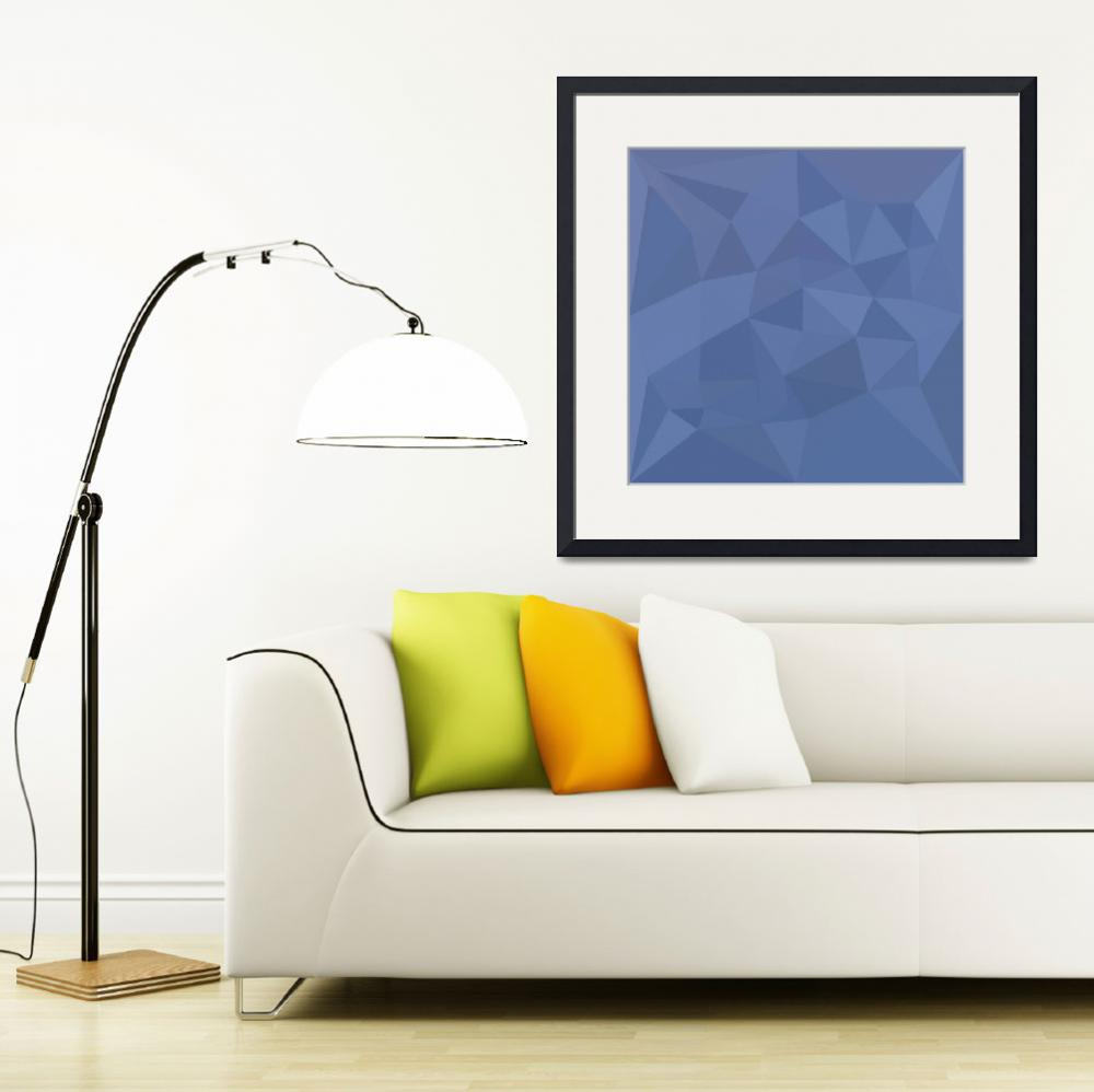 """""""Cornflower Blue Abstract Low Polygon Background""""  (2016) by patrimonio"""