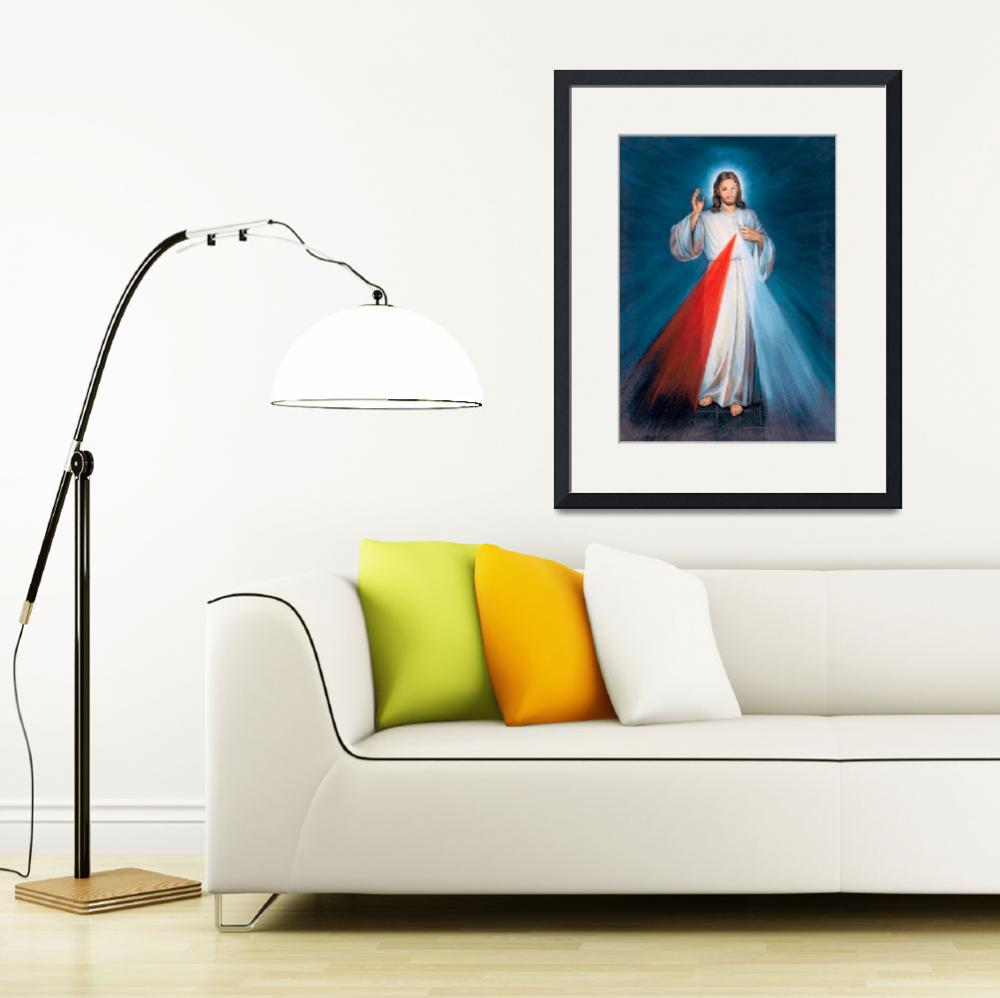 """""""Jesus Christ Divine Mercy Catholic Picture Art&quot  (1910) by Maggy"""