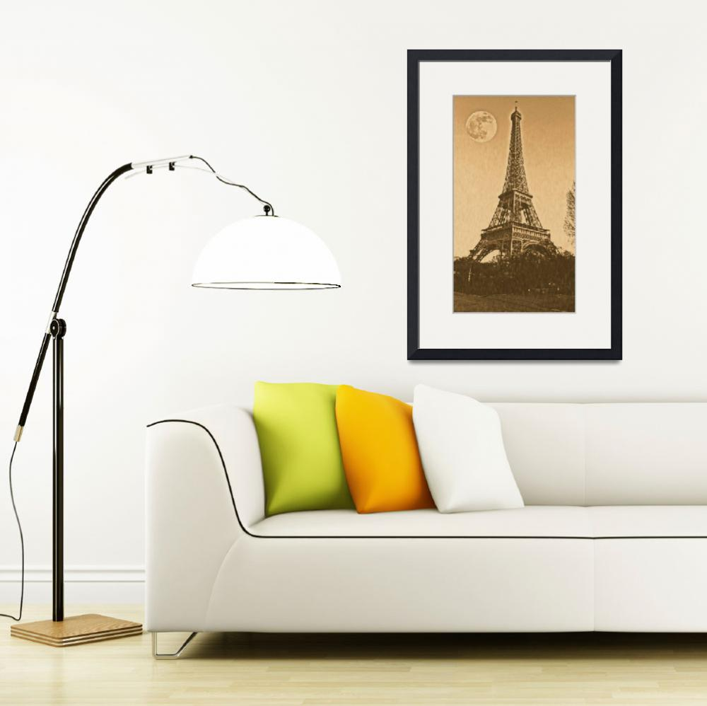 """Vintage Poster of eiffel tower&quot  (2017) by motionage"