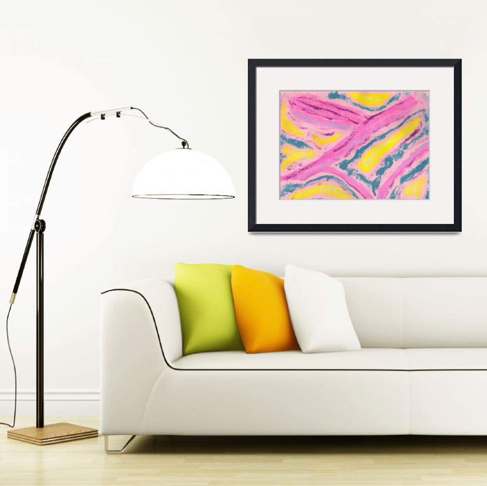 """Abstract in Pink Yellow Green""  (2008) by spiritualartist"