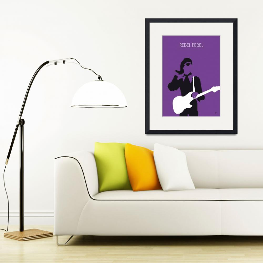 """""""No031 MY BOWIE Minimal Music poster&quot  by Chungkong"""