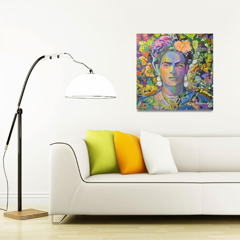 """Purple Frida with the orange flower&quot  (2017) by RDRiccoboni"