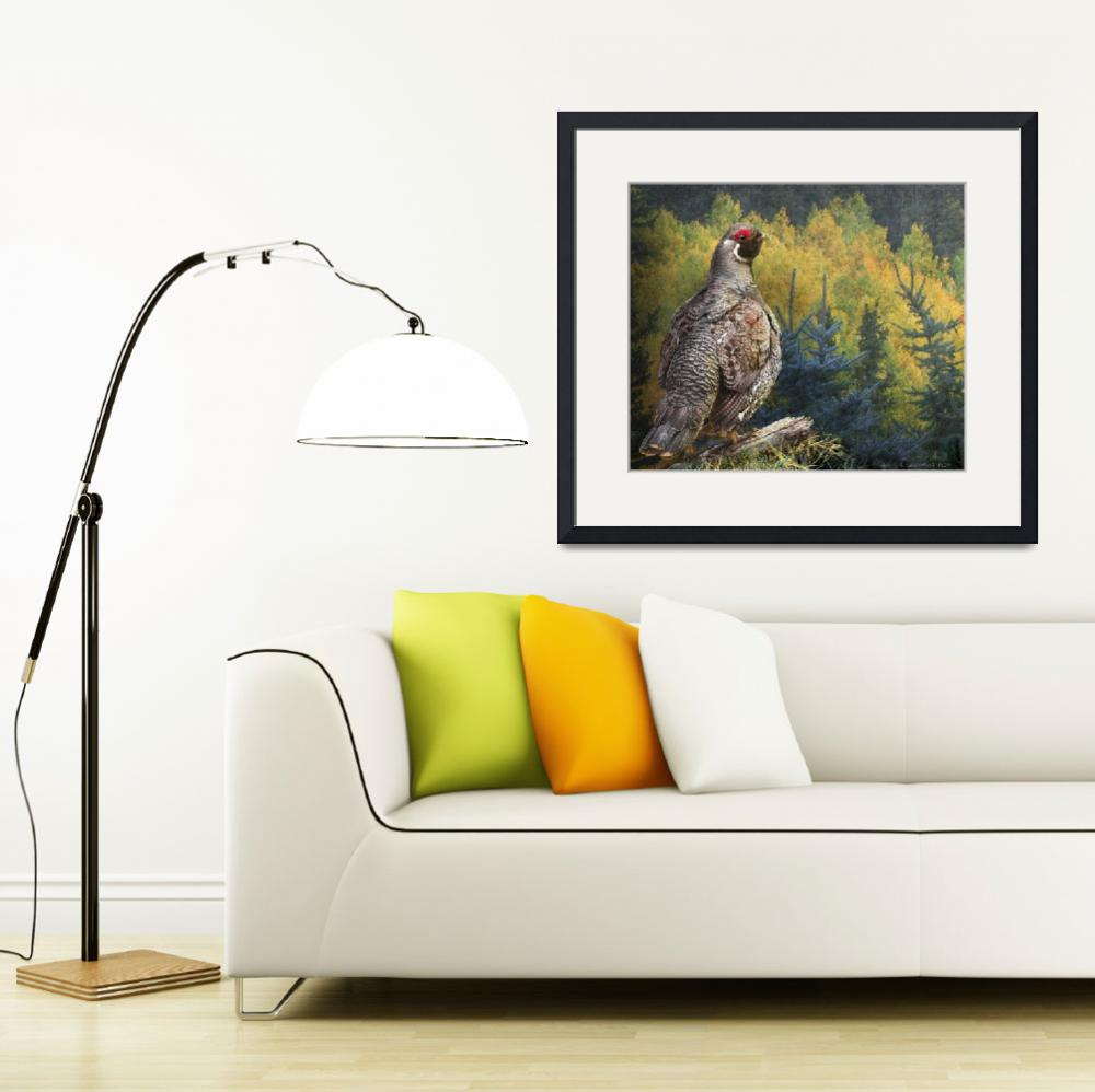 """""""spruce grouse northern maine&quot  (2014) by rchristophervest"""