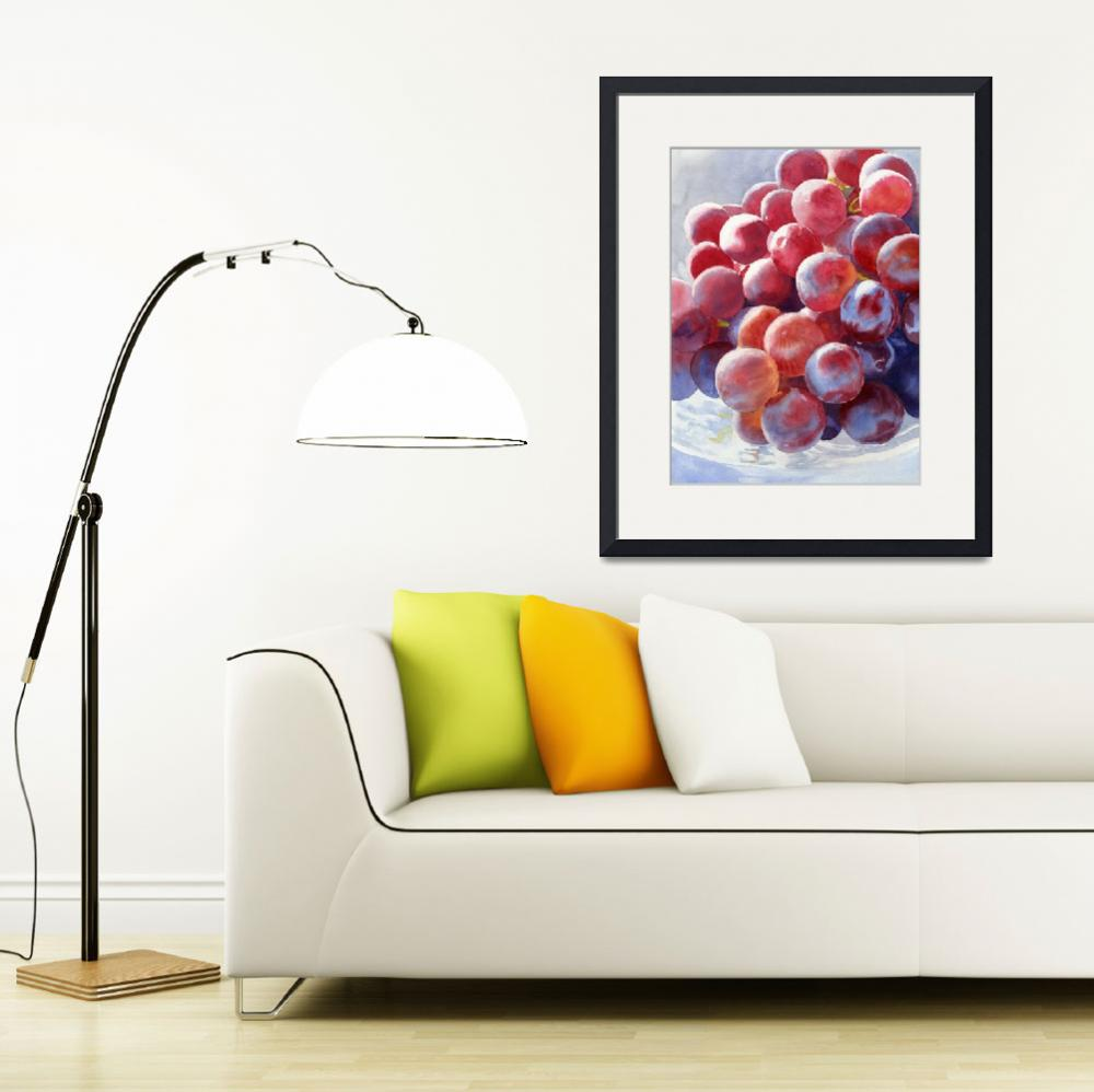 """Red Grape Essence""  (2010) by Pacific-NW-Watercolors"