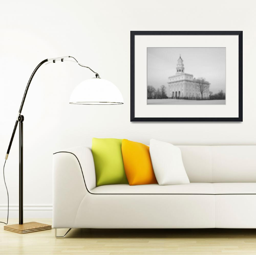 """""""Nauvoo Temple Large-16x22-BW""""  by TerrySpringer"""