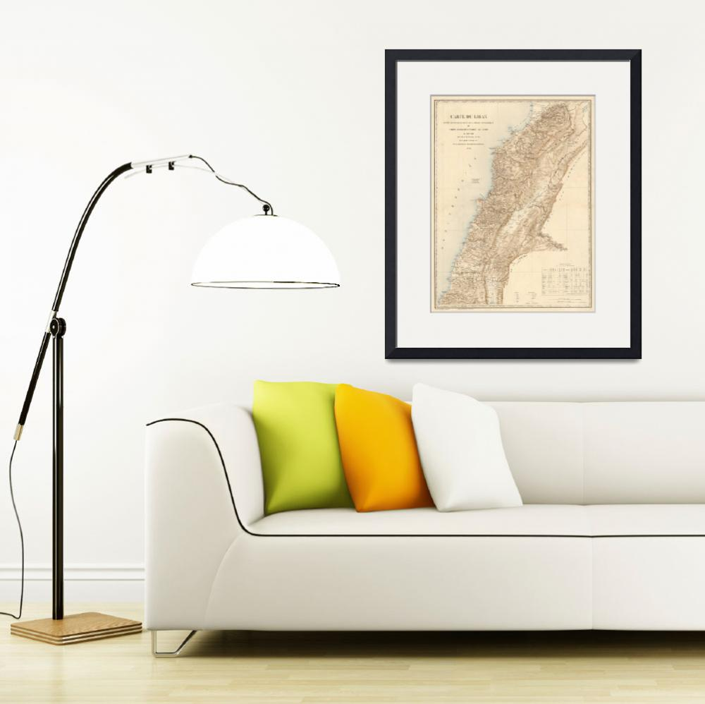 """""""Vintage Map of Lebanon (1862)""""  by Alleycatshirts"""