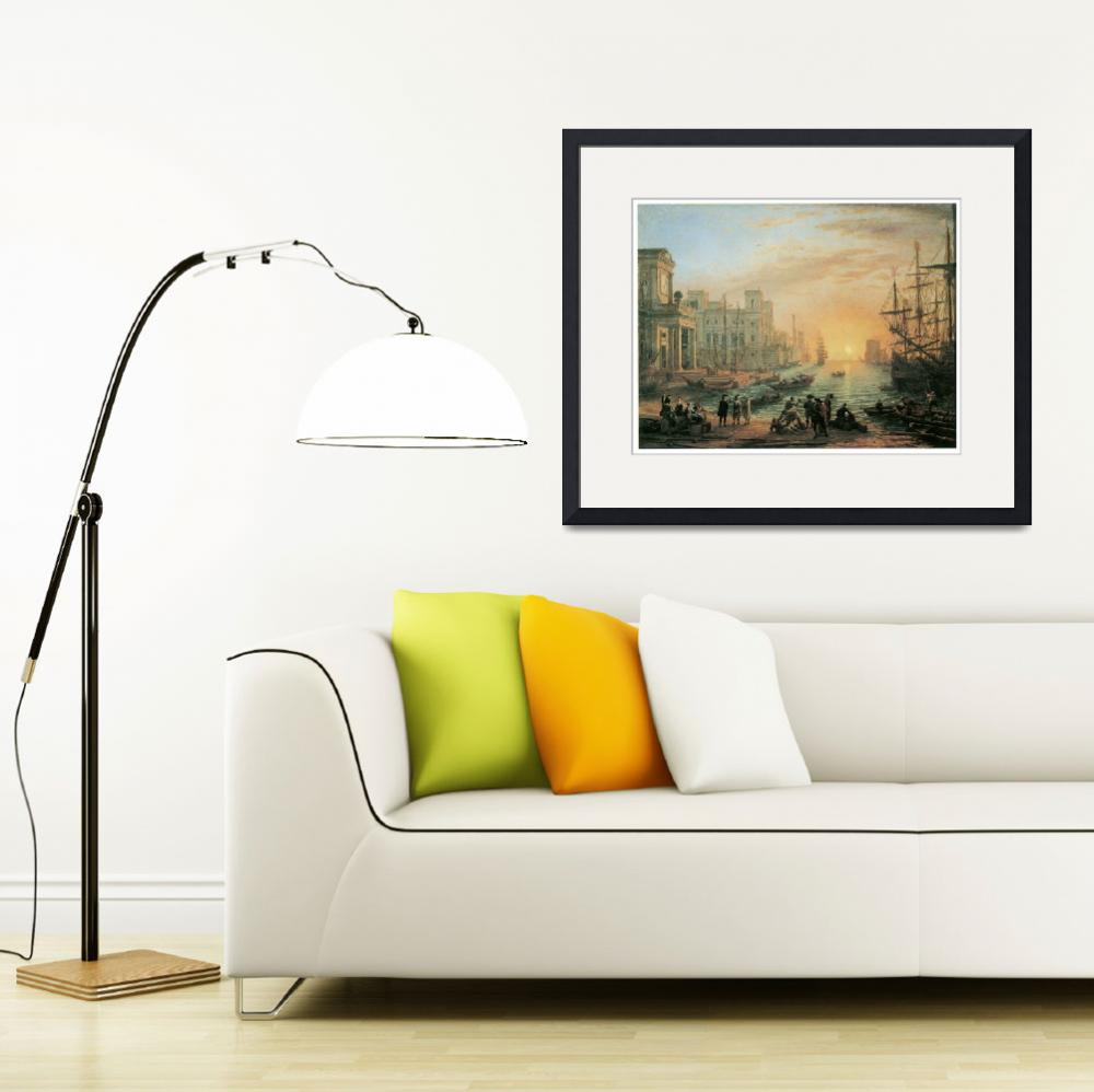 """""""Seaport at Sunset by Claude Lorrain&quot  by ArtLoversOnline"""