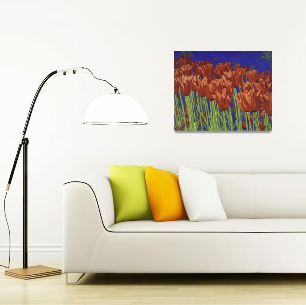 """Fine Art Prints Red Tulips Art Flowers Tulip Art&quot  (2008) by BasleeTroutman"