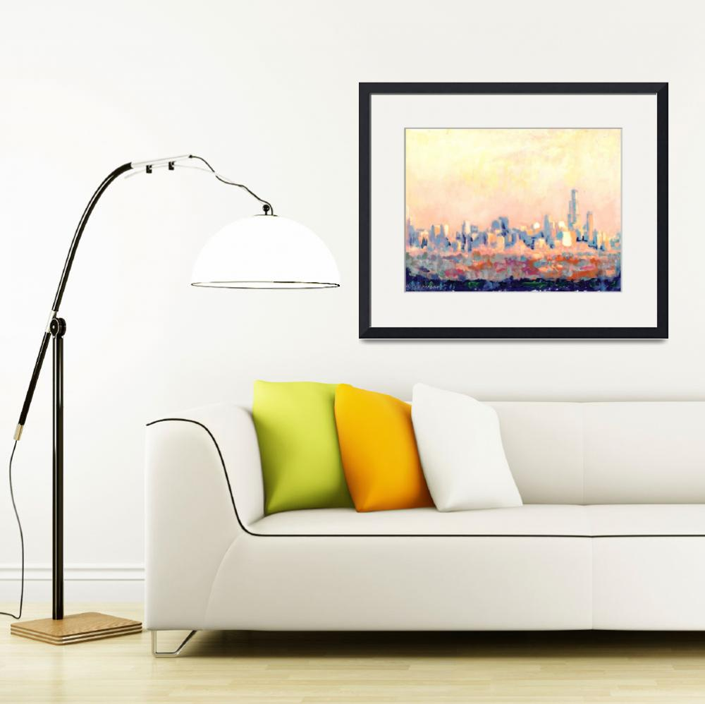 """Chicago Skyline by RD Riccoboni&quot  (2007) by RDRiccoboni"