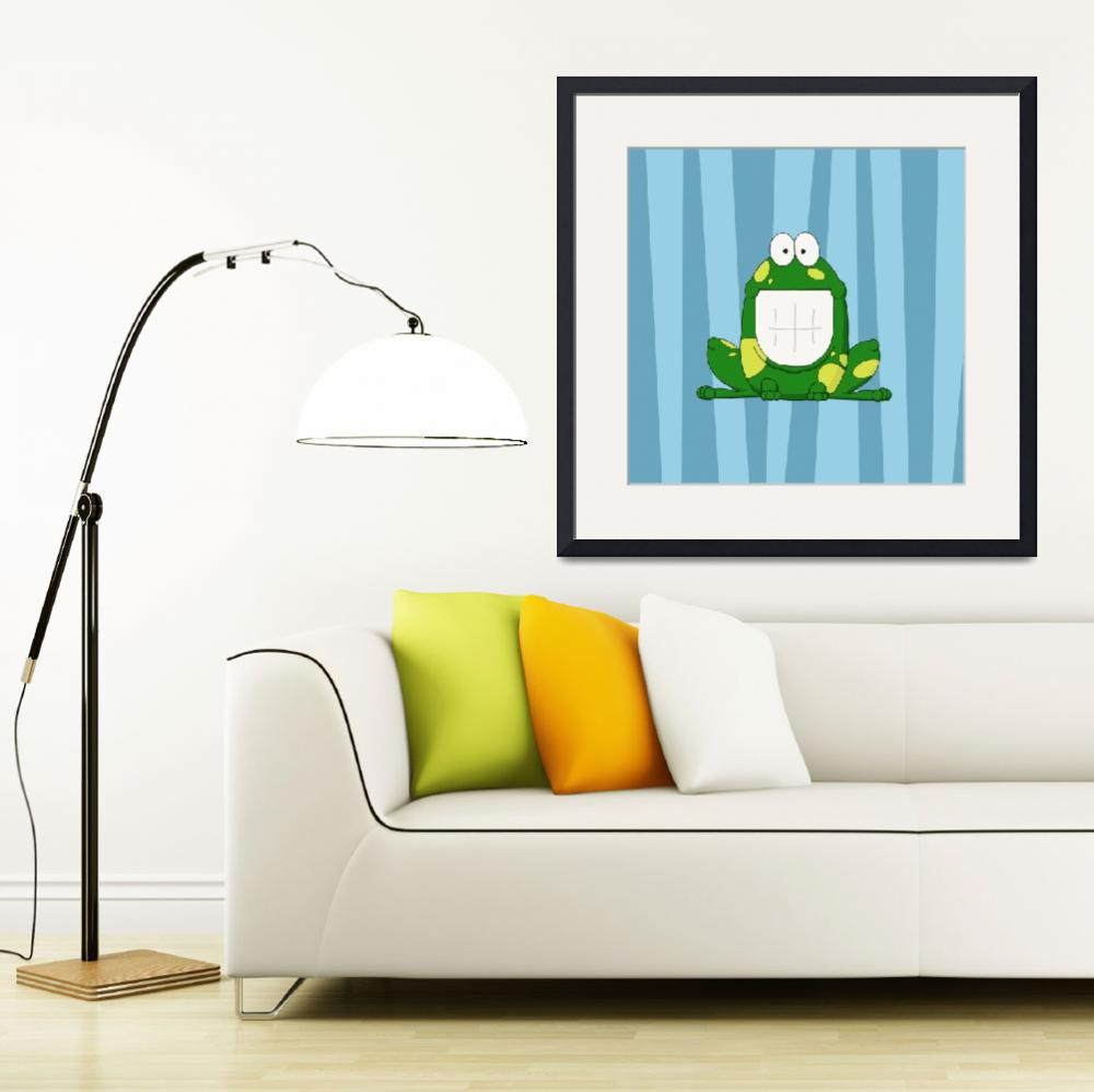 """""""Smiley Frog&quot  (2013) by InkFish"""