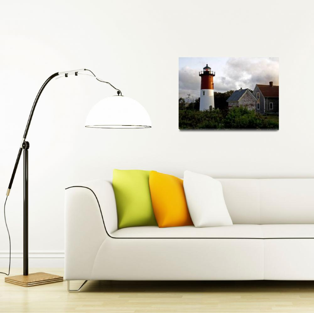 """Nauset Lighthouse - Eastham, Cape Cod""  (2009) by ChrisSeufert"