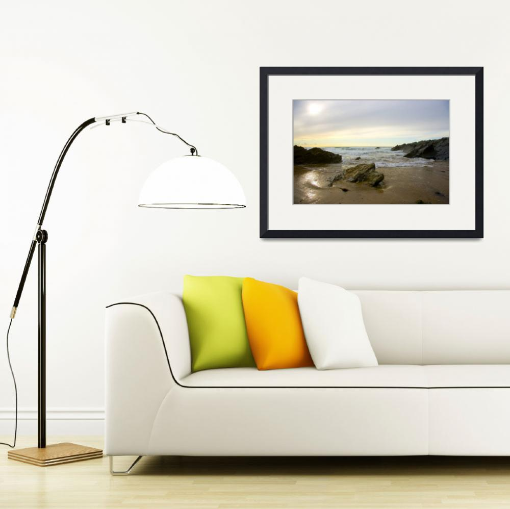 """""""Newquay beach after the tourists leave&quot  (2008) by chrismidds"""