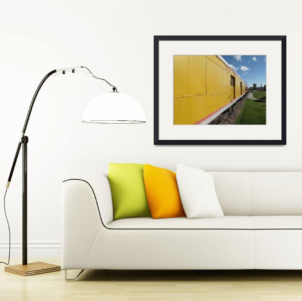 """""""Railroad Train&quot  (2009) by Ffooter"""