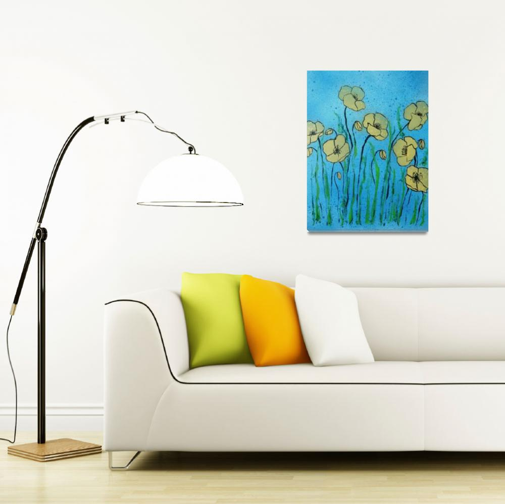 """""""Yellow poppies&quot  (2014) by GHunter"""