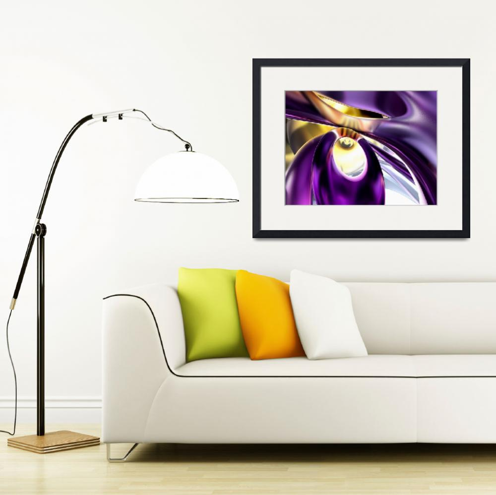 """Passionate Orchid Abstract&quot  (2012) by AlexButler"