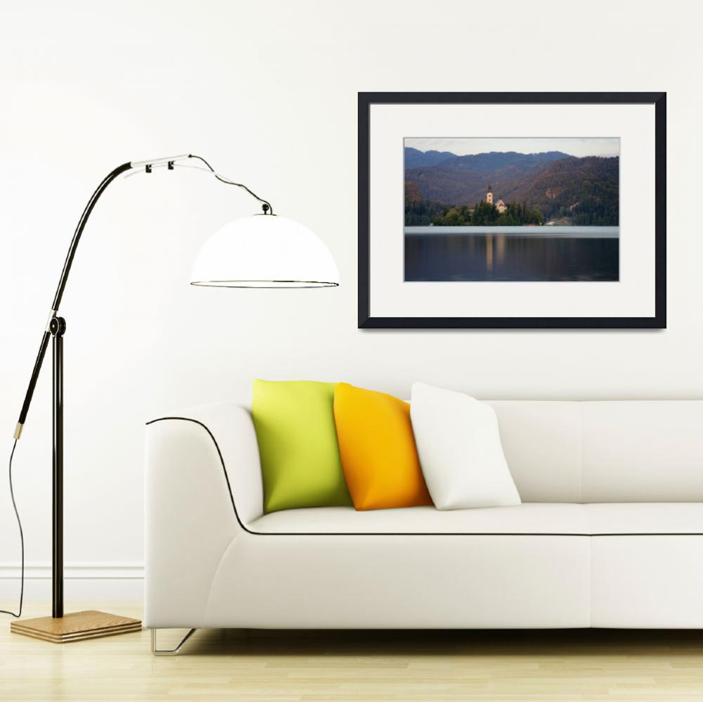 """""""View across Lake Bled&quot  (2011) by IanMiddletonphotography"""