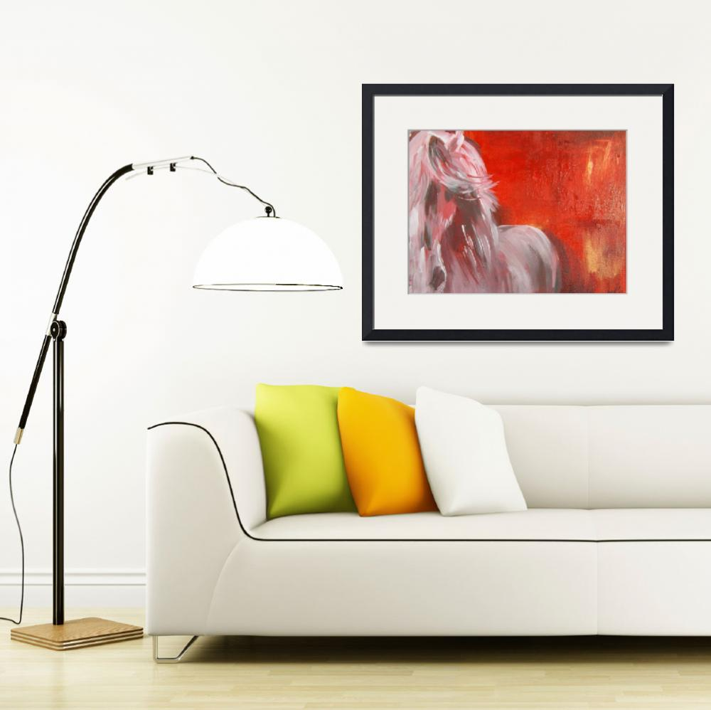 """""""white horse&quot  (2012) by gallerymay"""