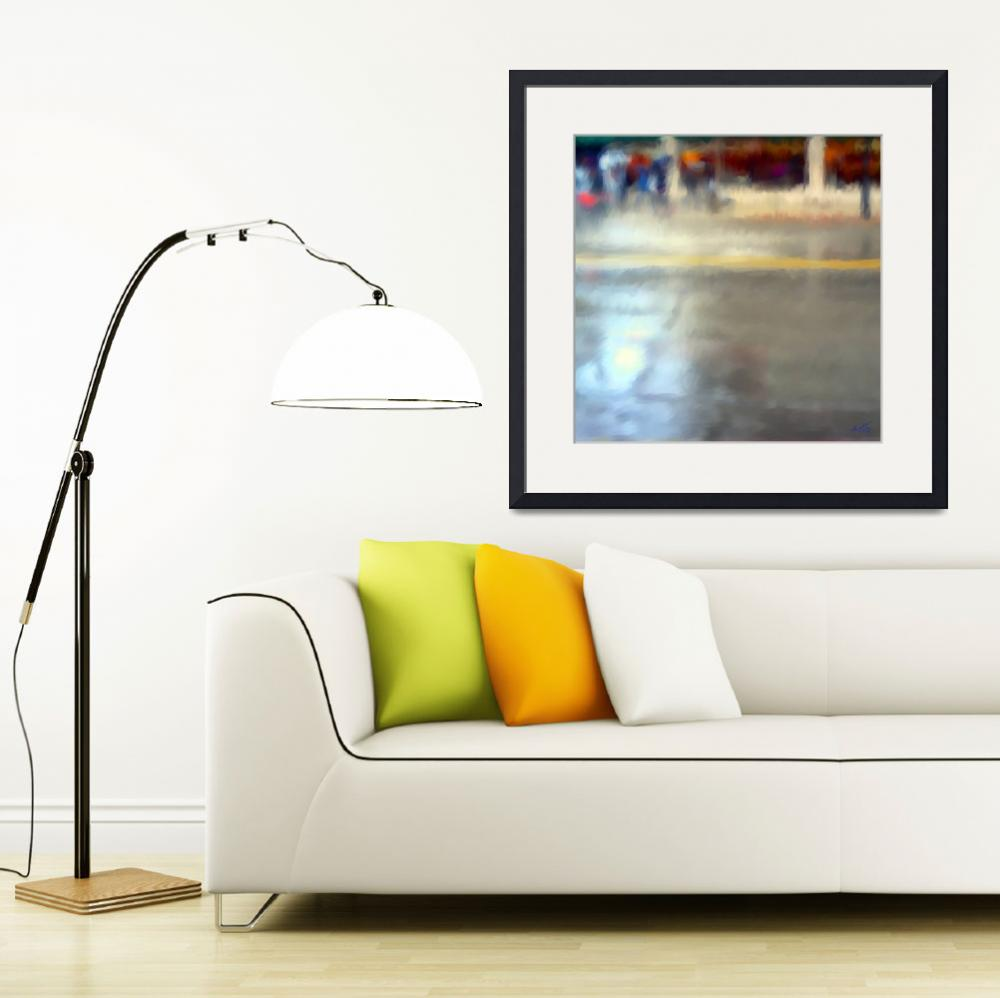 """""""Rainy Day in the City&quot  (2010) by SueMolyneaux"""