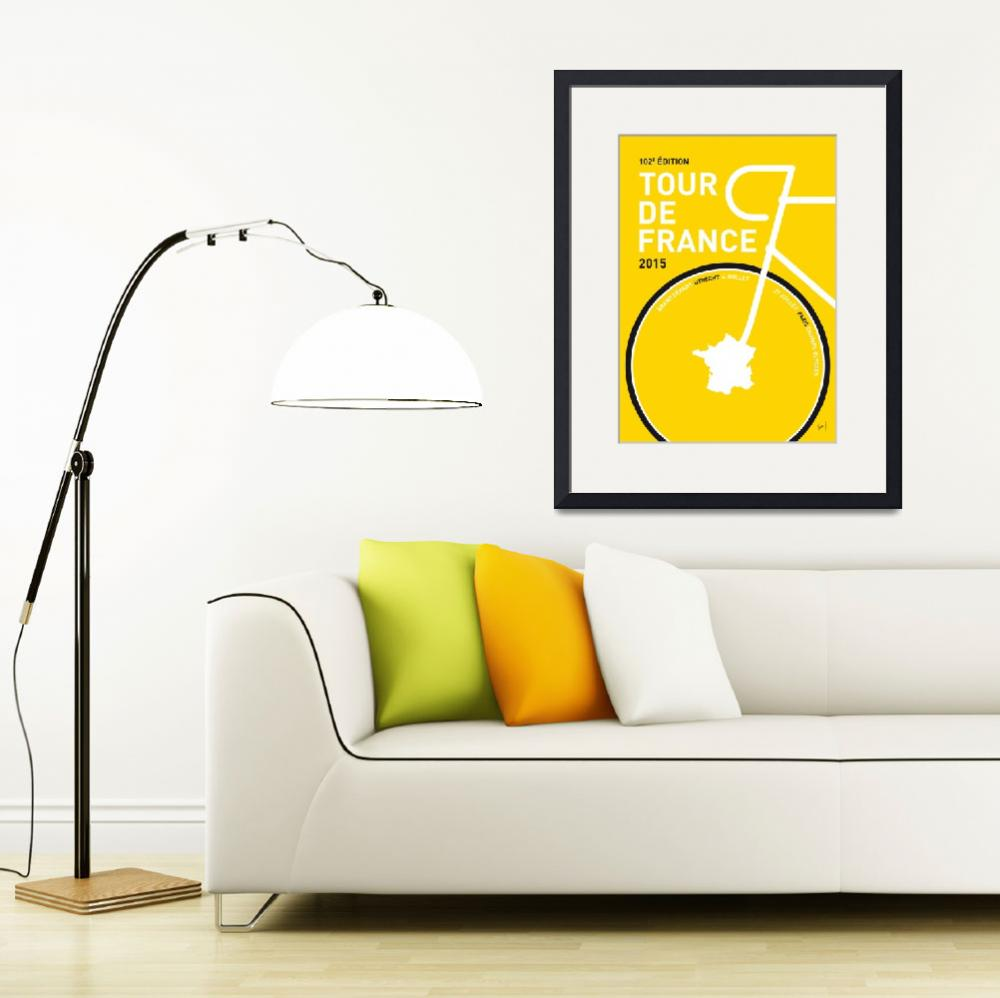 """MY TOUR DE FRANCE MINIMAL POSTER 2015&quot  by Chungkong"