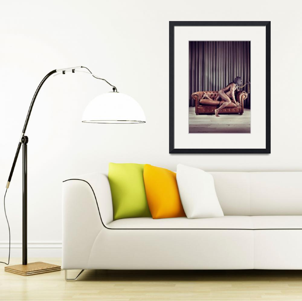 """""""Naked Man with mask on a sofa&quot  by 4u"""