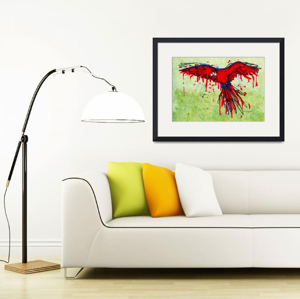"""""""Scarlet Macaw&quot  by depaula"""