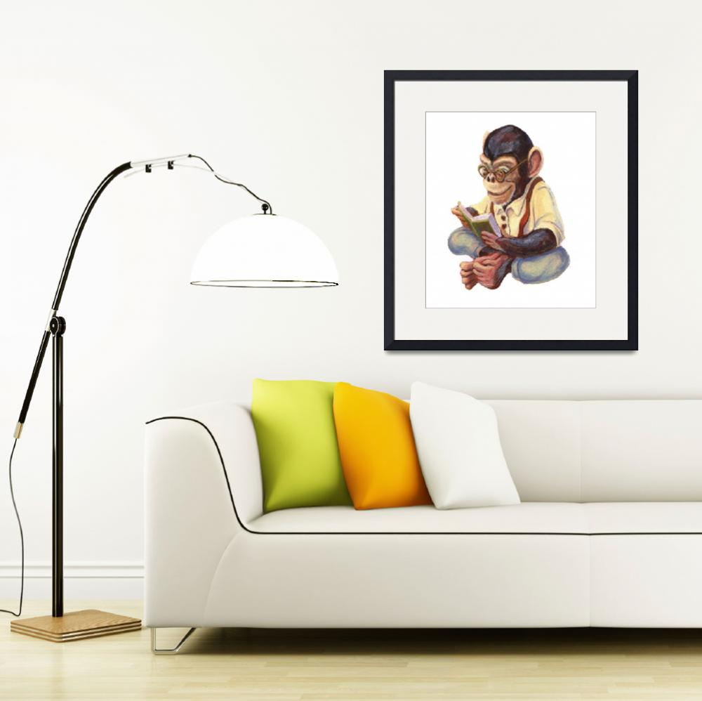 """""""Reading Chimp by Matthew Finger""""  (1998) by MattO68"""