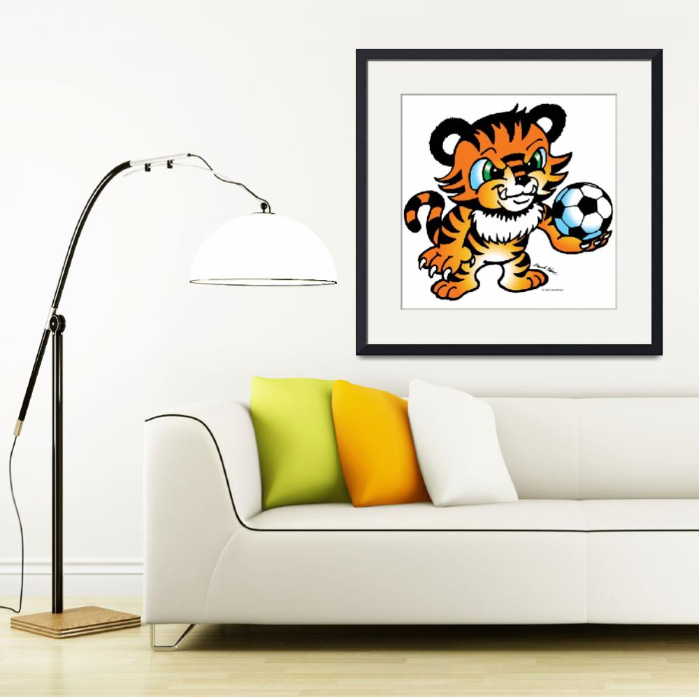 """""""Tiger Soccer Ball""""  (2005) by ChuckClore"""