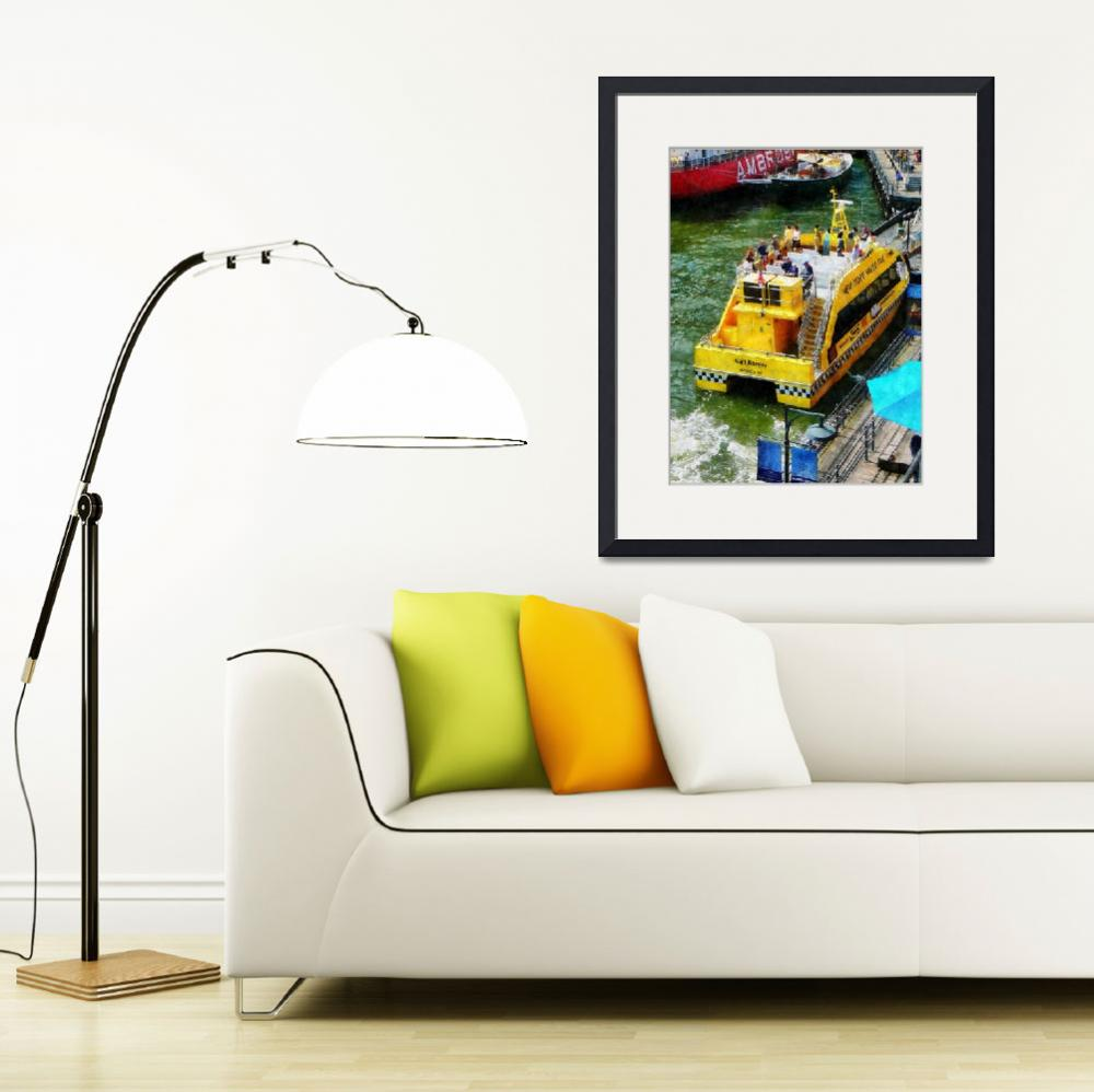 """Water Taxi At South Street Seaport&quot  by susansartgallery"